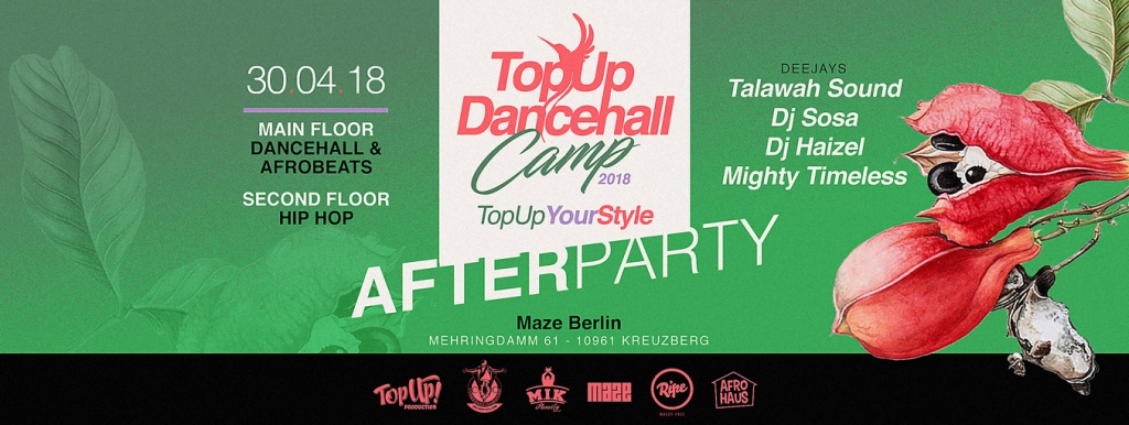 TopUp Dancehall Camp Afterparty 2018